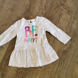 3/$15 George Girls Peplum shirt 18-24 M